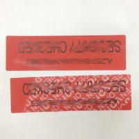 China Anti Tamper VOID Security Labels For Recyclable Jewel / Cosmetics Packing on sale