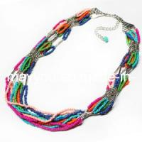 China Fashion Jewelry-Glass Beaded Necklace (N1092) on sale