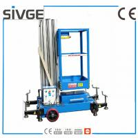 Quality 6 Meters Aerial Lift Platform Trailer Mounted Aerial Platform Lift In Blue Color for sale