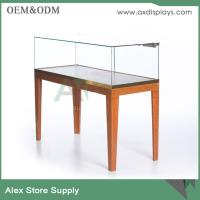 China jewelry shop counter design stainless steel jewelry showcase with lock wooden showcase on sale