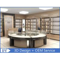 Buy Round Glasses Jewellery Shop Display Counters / Retail Jewelry Display Cases at wholesale prices
