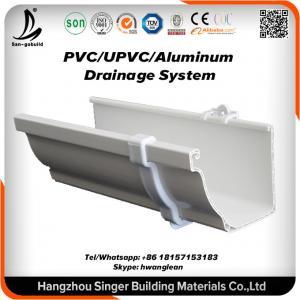 China Vinyl Plastic building material, pvc rain gutter system for rain drain on sale
