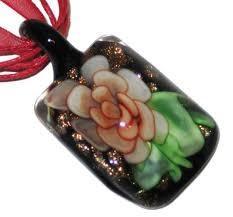 China Round, square, animal Lampwork Millefiori murano glass pendant necklaces on sale