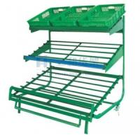 Quality 3 Layers Green Metallic Fruit Shelf And Vegetable Storage Rack with Perfect Service for sale
