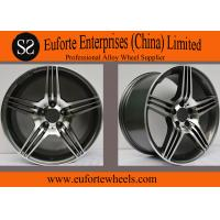 Quality Custom Alloy Black 5 Spoke Rims / Replica Mercedes Benz Wheels for sale