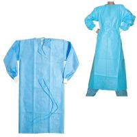 Single Use Disposable Hospital Gowns Sterile / Non Sterile With Blue ...