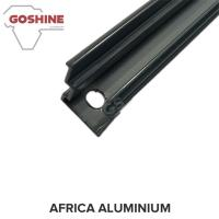 Quality Black powder coated aluminium extrusion profile for aluminium handrail for sale