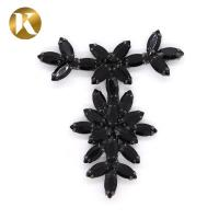 Quality Jewelry DecorationT Shape Metal Shoe Buckles Black / Gold Multi Color for sale