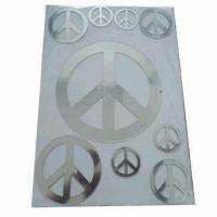 Quality Color Printed Acrylic Mirror Sticker, Various Shapes and Sizes are Available, OEM Orders are Welcome for sale