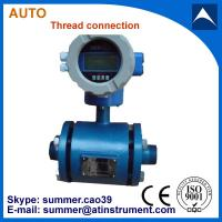 Quality Thread connection type magnetic flow meter uesd for milk/drinking water/beer with low cost for sale