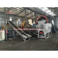 Quality Low Noise Waste Rubber Recycling Machine , Full Auto Tyre Processing Plant for sale