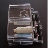 Quality Acrylic clear Makeup Case Cosmetic Drawer Box for sale