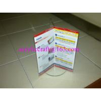 Buy Lucite Table Tent Clear Acrylic Poster Holder 3 Pages For Advertising at wholesale prices