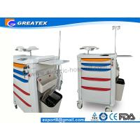 Buy cheap Medical Device Hand Drug Trolleys ,  Aluminum Steel Nurse Trolley 870mmx590mmx970mm from Wholesalers