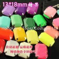 China crystal sew on setting rhinestone candy color sewing button garment accessories on sale