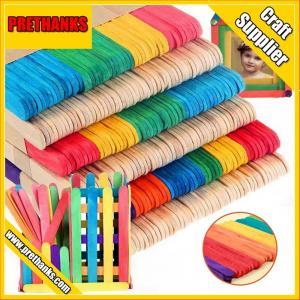 Mixed Colored DIY Wooden Sticks Wood Craft Sticks