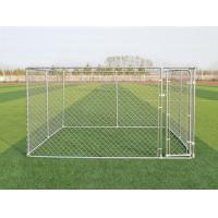 Quality 4x2.3x1.82M Thick Hot Galvanized Fence Big Dog Kennel/Metal Run/Pet house/Outdoor Exercise Cage for sale