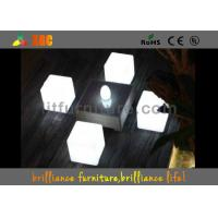 Quality LED round bar stool , bar chair Glowing Furniture built-in RGB LED light with 16 colors for sale