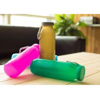 Quality Promotional Folding Silicone Water Bottle Sports With Wrap 22oz. , Wear-Resistant for sale