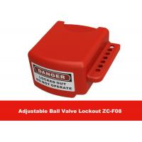 Quality OEM Red Color 3 Lock Holes 210G Adjustable Flanged Ball Valve Lock Out for sale