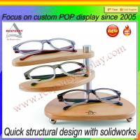 China Hot sale POP customized wood sunglasses display case on sale