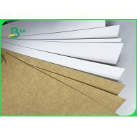 Quality 300GSM 325GSM 360GSM Food Grade Clay Coated Kraft Back For Packing Fast Food for sale