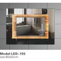 Quality Heated Touch LED Bathroom Mirror , Magnifying Rectangular Illuminated Mirror for sale