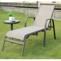 Quality wholesale market online black garden outdoor beach casual foldable ultralight aluminum reclining chair table set for sale