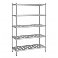 Quality Rust Proof Silver Metal Display Rack 60 Inches Long For Kitchen for sale