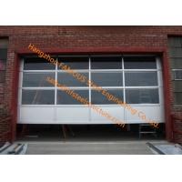 Quality Motorized Aluminum Insulated Tempered Glass Full View Overhead Garage Door for sale