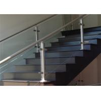 China Prefabricated Stainless Steel Glass Railing with Round / Square Tube Handrail on sale
