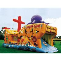 China Inflatable Ship Playground In Ship Design With Animal Cartoon Pictures on sale