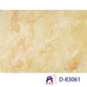 Quality Blue Sky Wear Resistance PVC Decorative Film , Pvc Ceiling Film Simulation Of Marble for sale