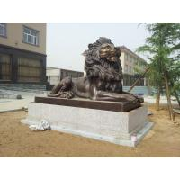 China Bronze Casting Art Lion Sculpture for  government Decor in  Gate on sale
