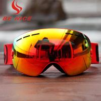 Quality Customized TPU Frame Interchangeable Lens Snowboard Goggles With Three Layer Foam for sale