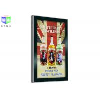 Quality Scrolling Advertising Signs A3 Light Box Remote Control Wall Mounting for sale