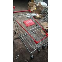 Quality Mini European Style Grocery Metal Supermarket Shopping Cart / Powder Coated Grocery Store Shopping Cart for sale