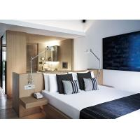 Buy cheap Natural Warm Color Luxury Hotel Furniture Wooden Headboard Combined With Desk from Wholesalers