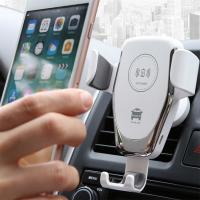 Quality Cell Phone Holder Wireless Car Charger Automatic Clamping Fast Charging 10 Watt for sale