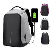 Quality Business Oxford Laptop Backpack with USB Charging Port Fits 15.6 inch Laptop,   Gray outdoor traveling Laptop Backpack for sale
