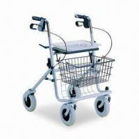 China Rollator with Powder-coated Steel Frame, Basket and 780 to 965mm Adjustable Height on sale