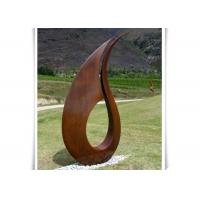 Quality Professional Contemporary Corten Steel Sculpture , Large Abstract Metal Sculpture for sale