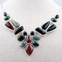 Natural Stone Choker Chunky Necklace Party Jewelry