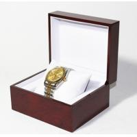 Quality Classic Jewelry Wooden Box With White Leather Pillow  , Wooden Watch Box for sale