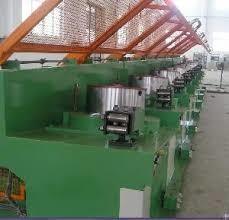 Medium Carbon Steel Wire Drawing Machine , Industrial Iron Wire Manufacturing Machine