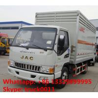 Quality JAC brand 4*2 LHD 5 ton inflammable gas cylinders transport truck for sale for sale