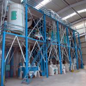Quality Maize Flour Milling Plant  Wheat Flour Processing Plant No Flying Dust for sale