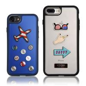 3D Cell Phone Decorative Sticker TPU Bumper Iphone Protective Case Hard Cover