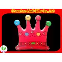 Quality LED lights scrolling flashing crown badge OEM logo is good for promotion  for sale