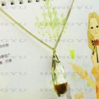 Quality Ladies′zinc Alloy Necklace with Rhinestone for sale